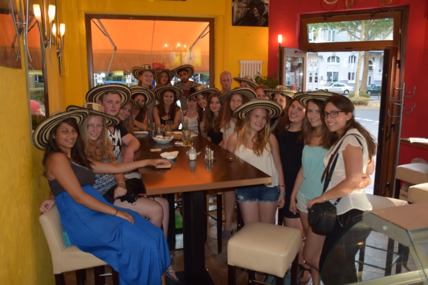 Kolumbien- und Perugruppe im Restaurant