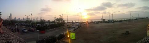 Sonnenuntergang an der Stadtmauer