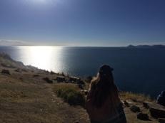 Blick auf den Lago de Titicaca