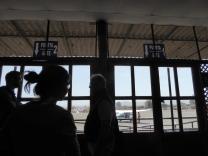 Der kleine Flughafen mit zwei Gates