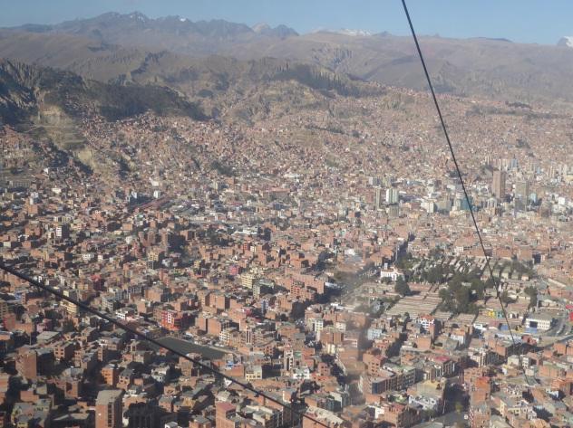Das im Tal liegende La Paz