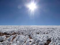 Schnee in der Wüste auf über 4.000 Meter