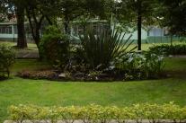 Viel Park und Grünfläche
