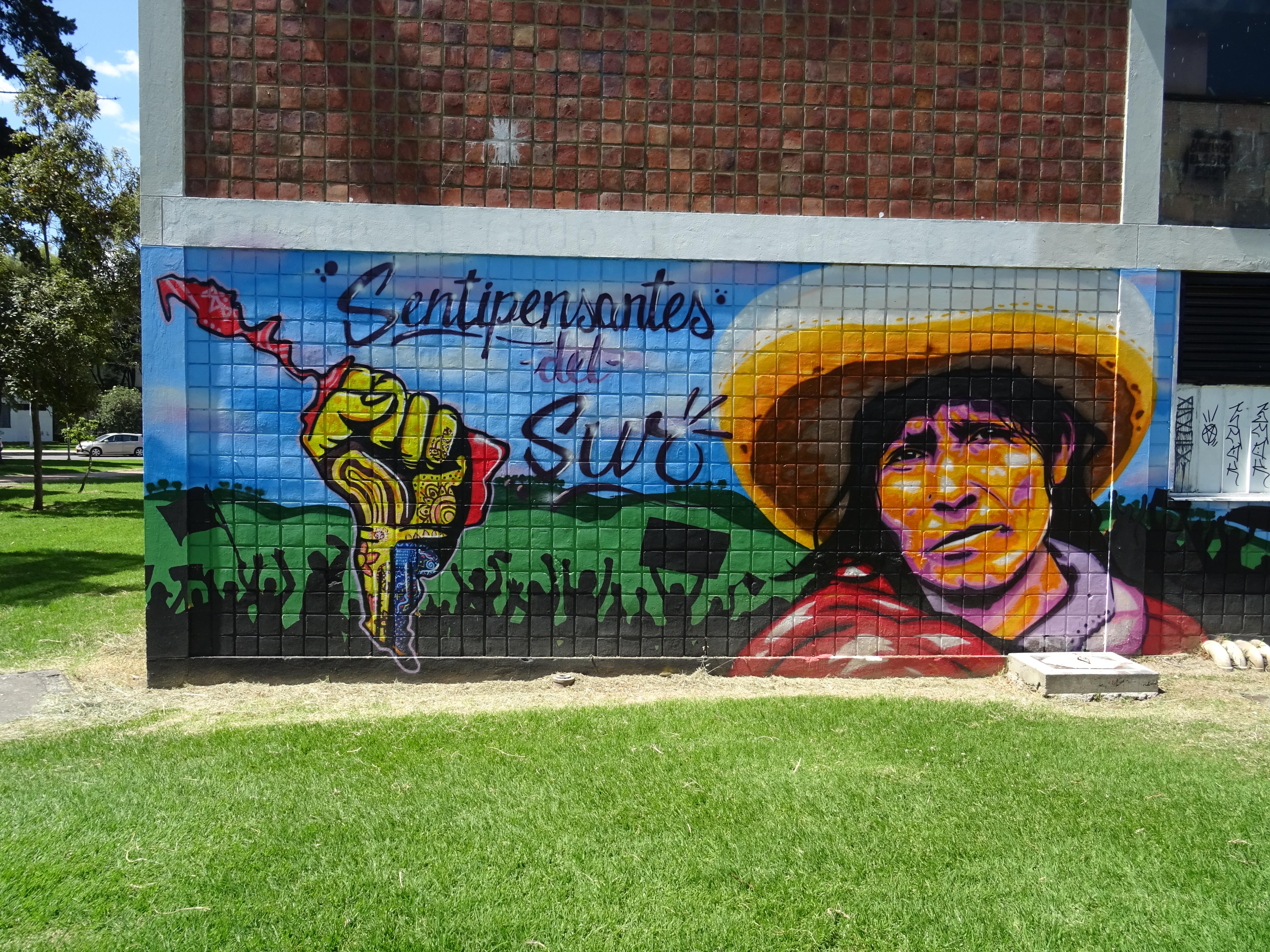 Graffiti an der Universidad Nacional de Colombia